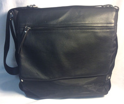 Black nylon Handbag with pleather sections