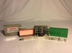 Vintage glass syringes