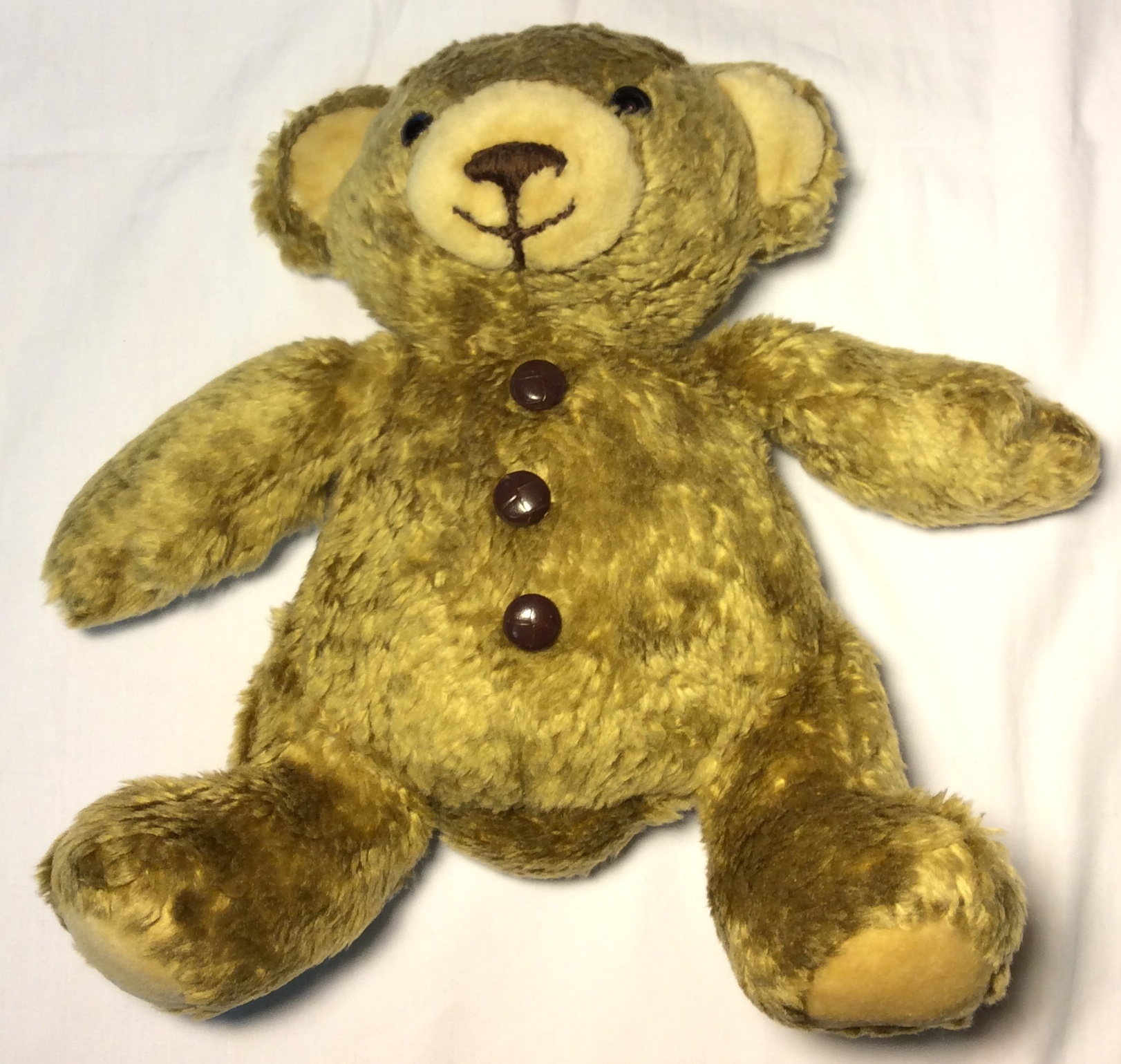 Soft golden brown teddy bear cam