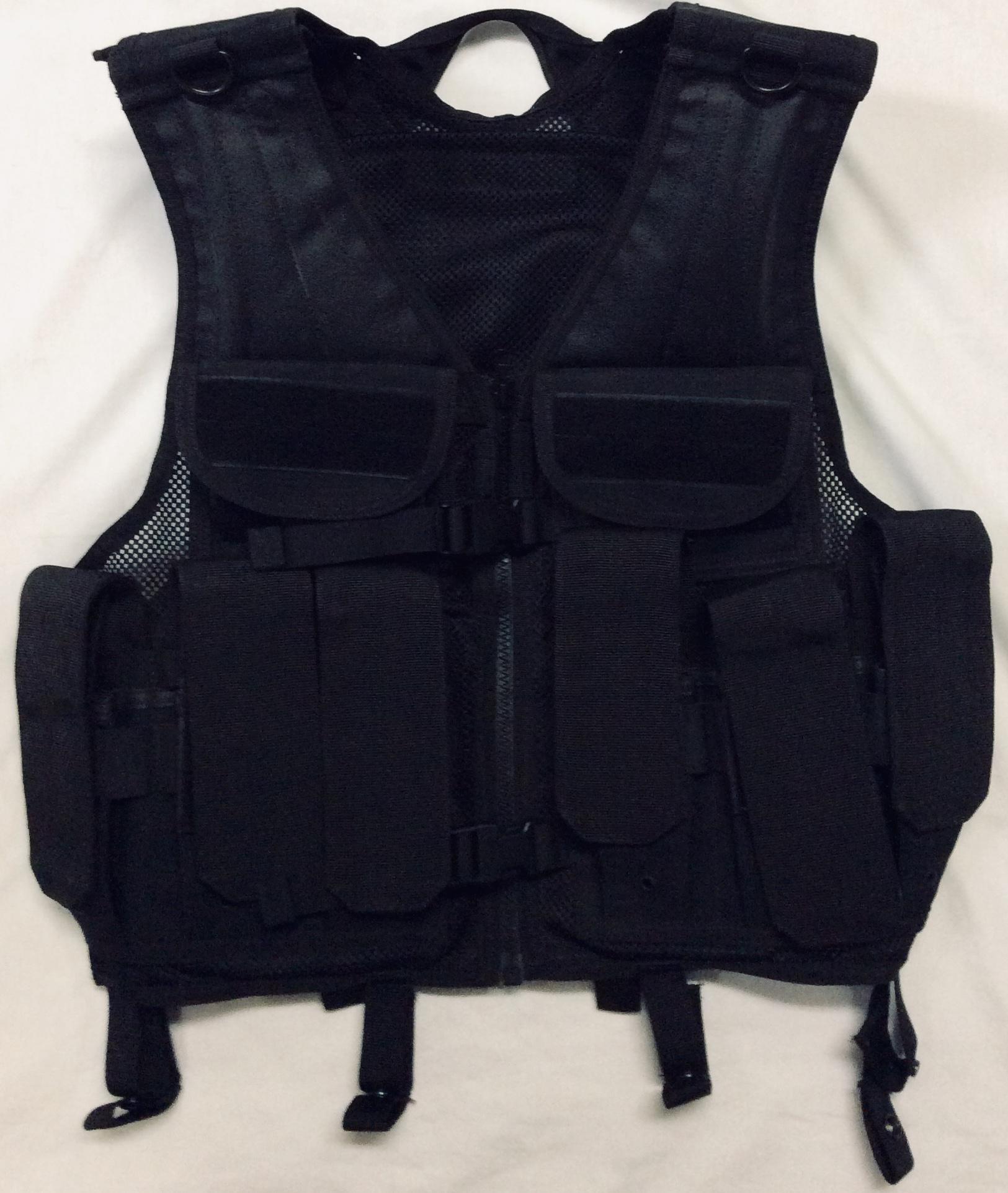 Black Mesh vest with multiple ammo