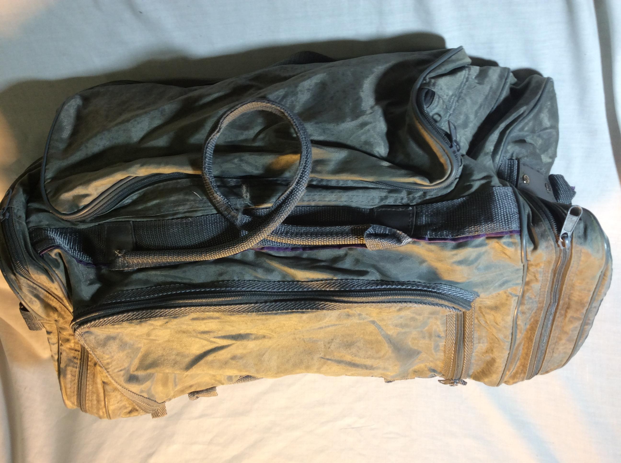Old Grey Duffle Bag