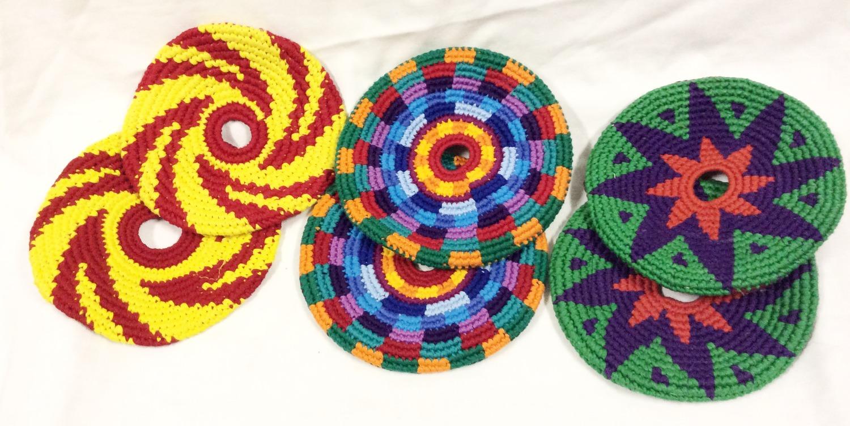 Crochet frisbees