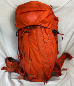 Orange backpacking bag