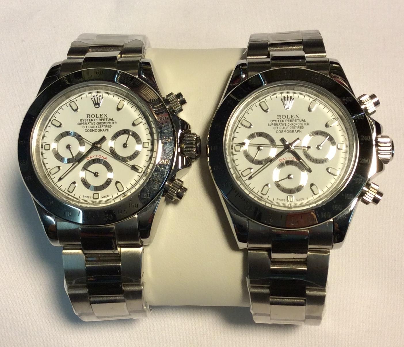 Rolex watch - Round white face