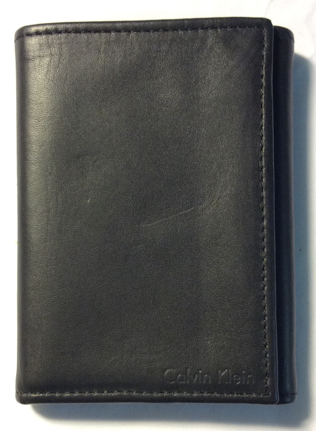 Calvin Klein nice charcoal leather