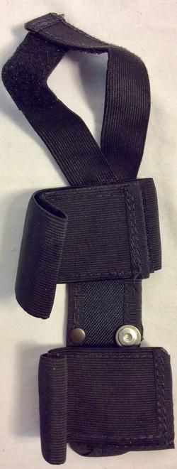 Black nylon leg knife holster