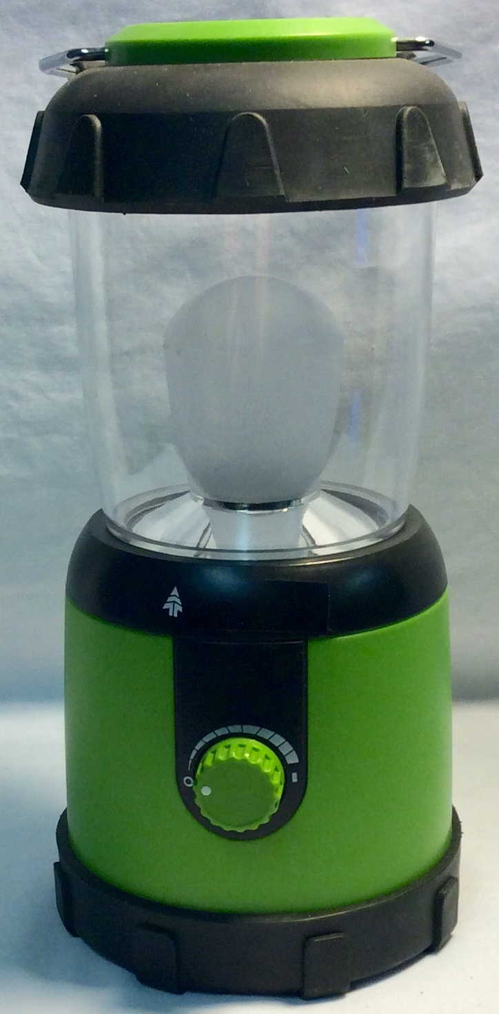 Small lime green lantern with light
