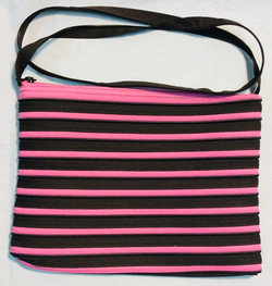 Pink and Black zipper purse
