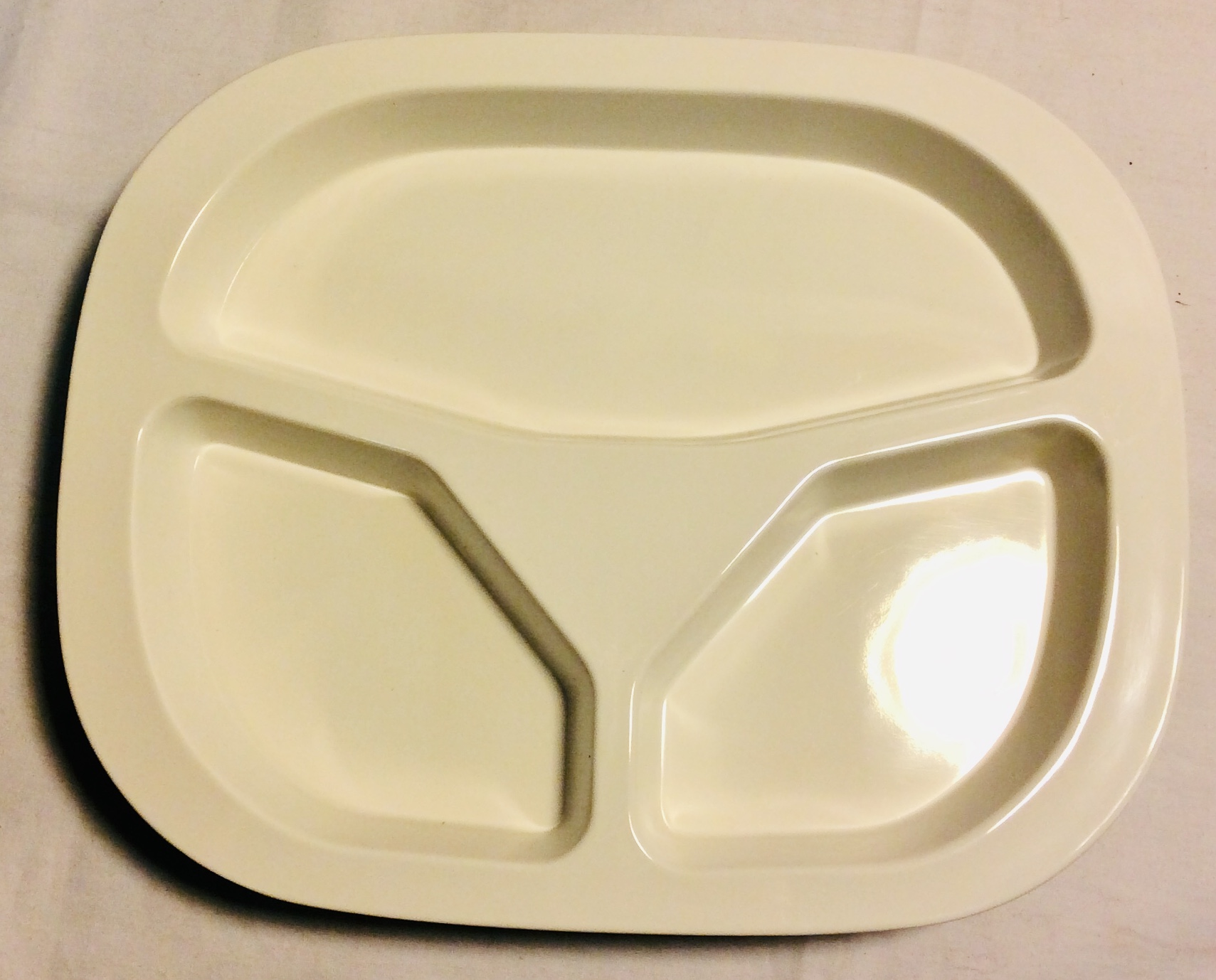 Cream Melamine Plates with dividers