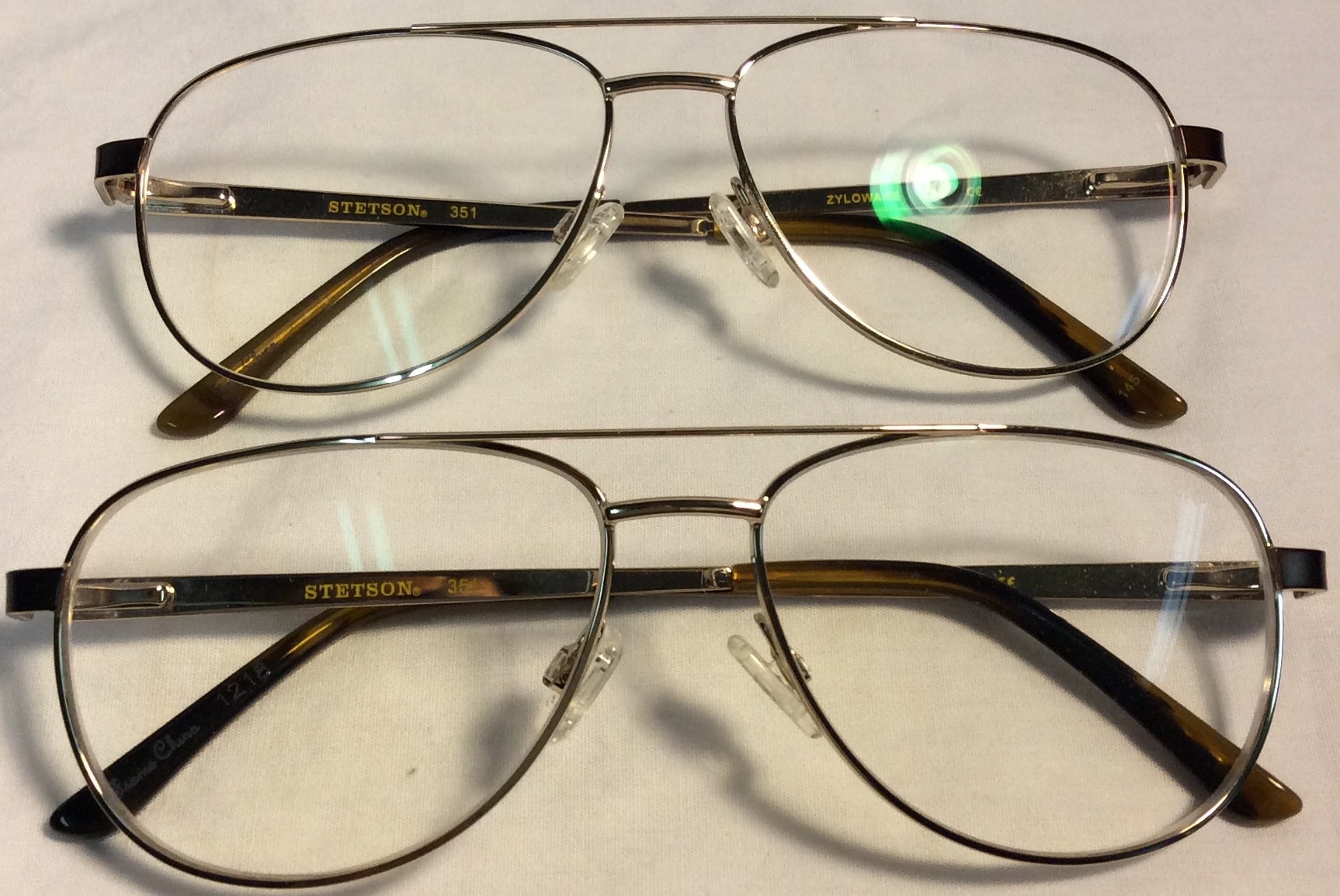 Zyloware Brown and gold framed eyeglasses (ALR)