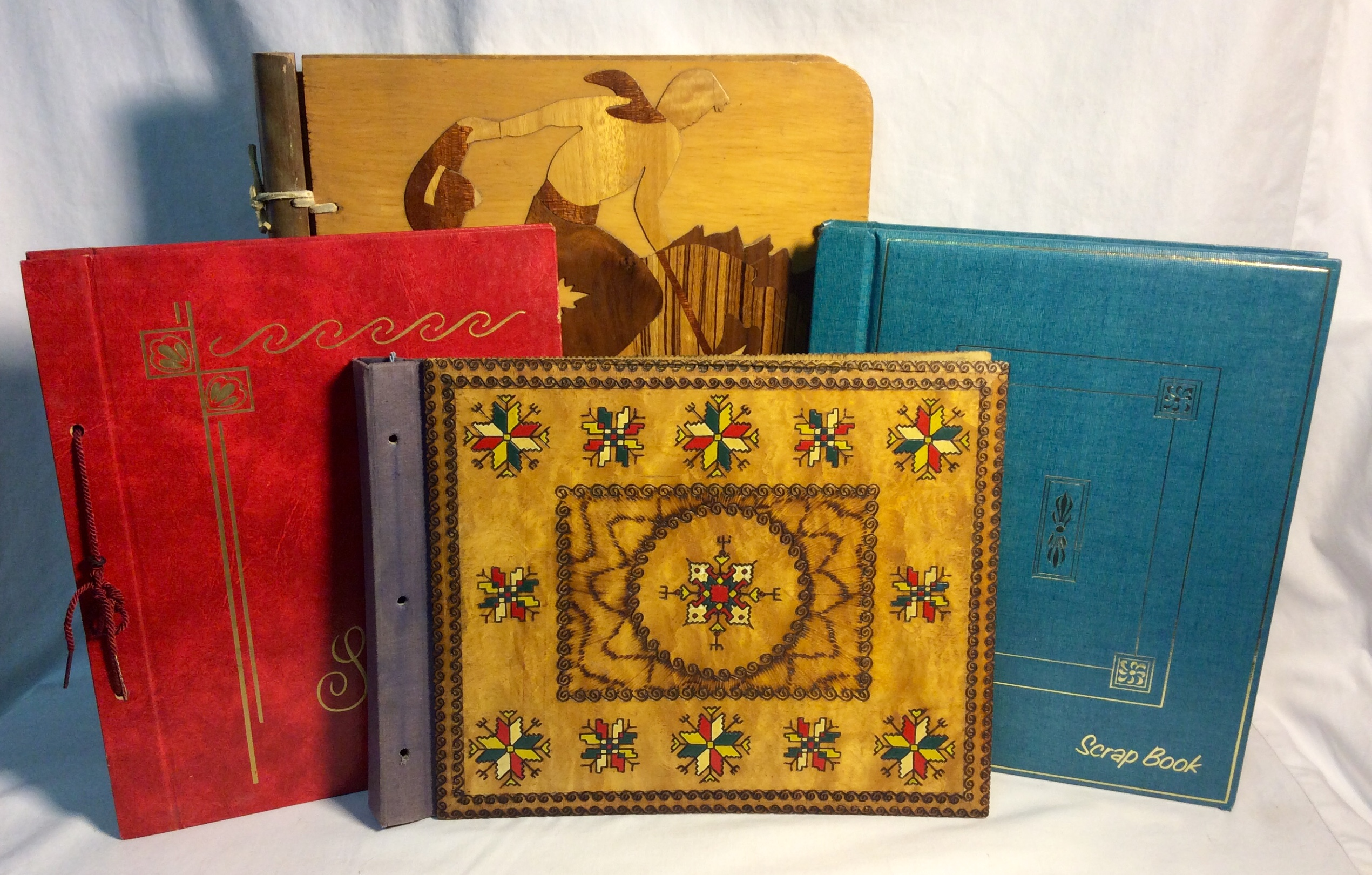 Assorted scrapbooks