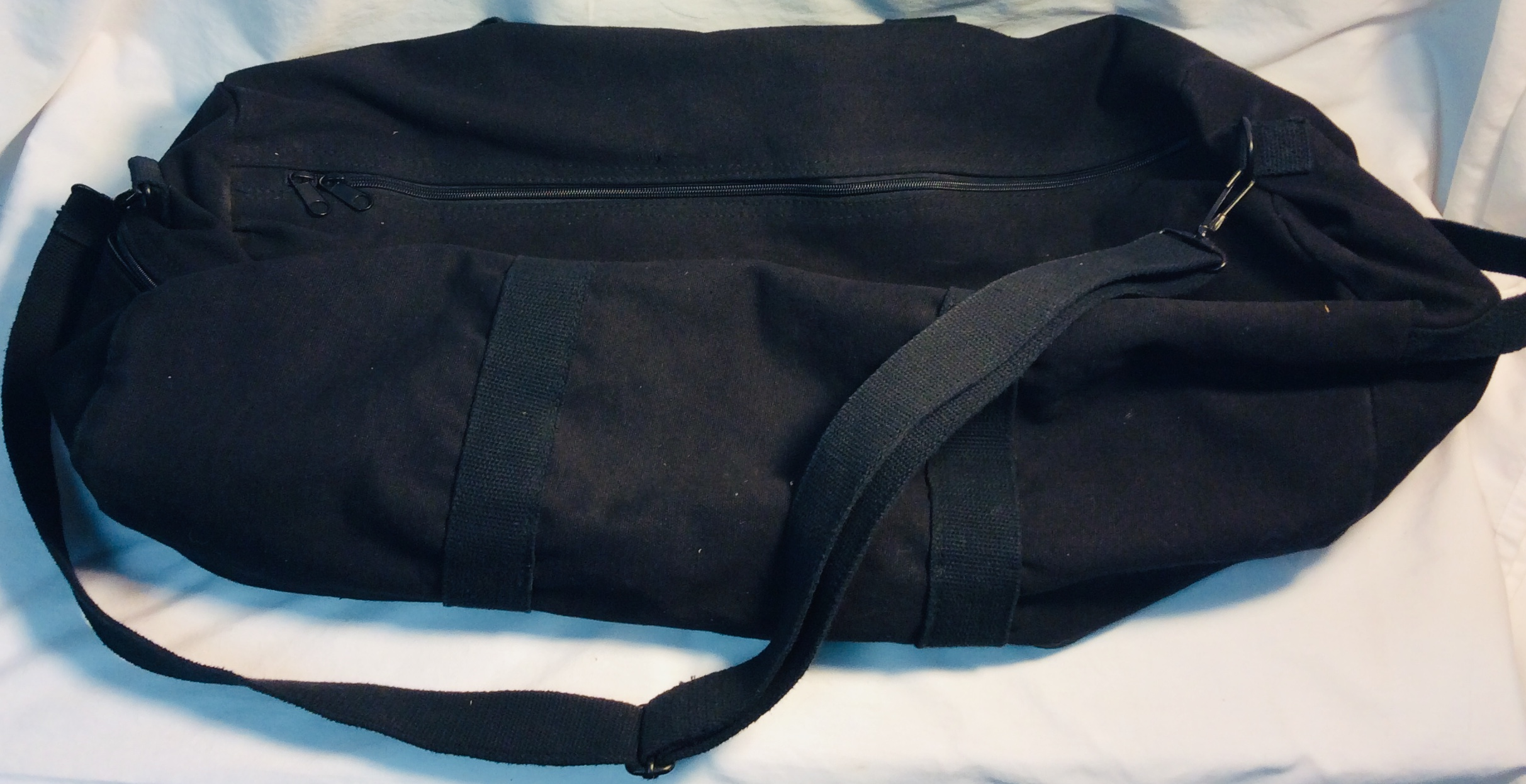 Military black canvas large duffle bags