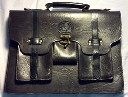 Oldblack leather brief case