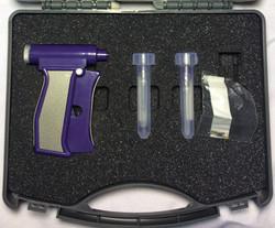Purple plastic RFID implant gu