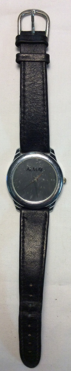Almay watch -  round silver face