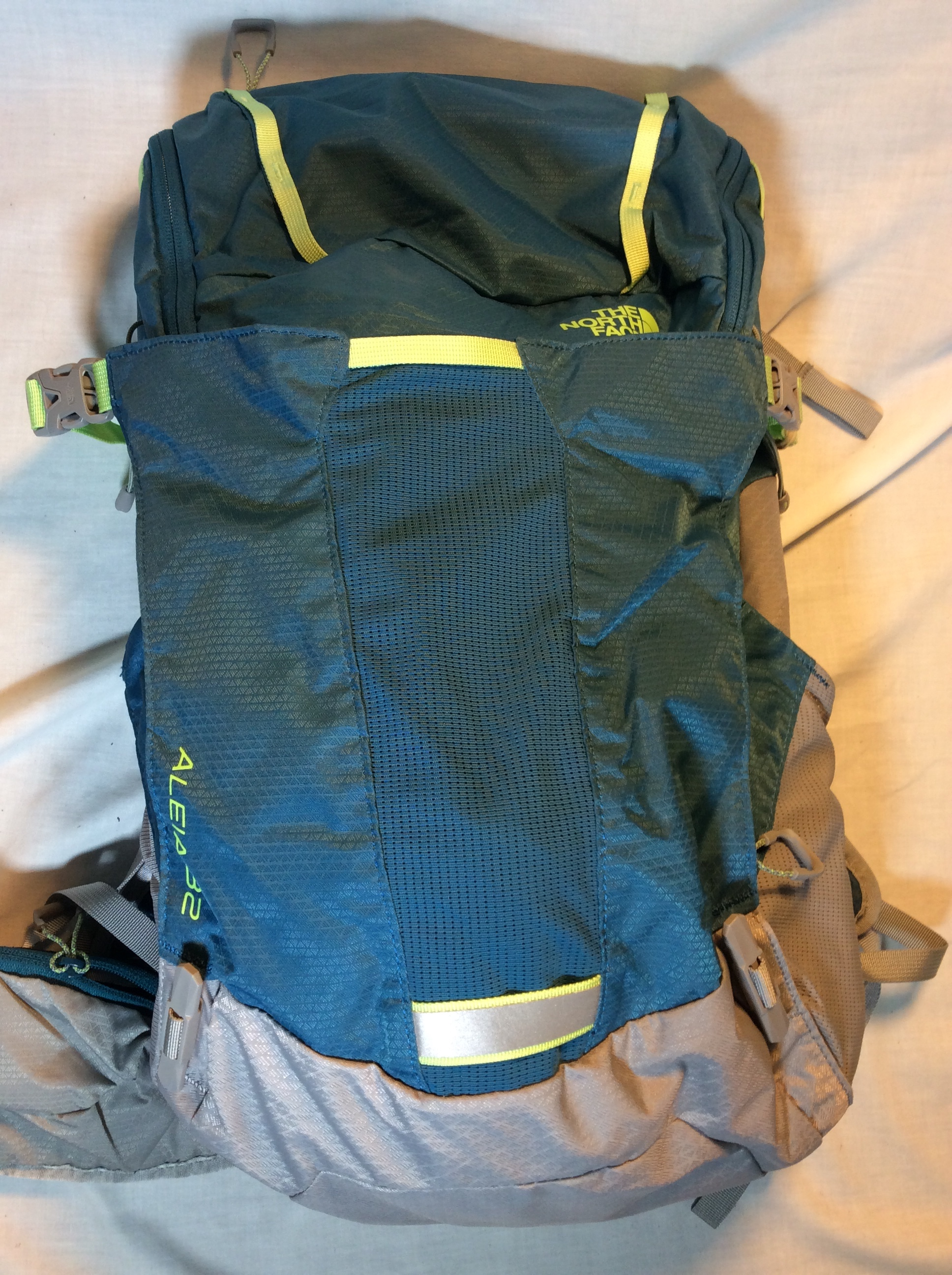 The North Face Teal backpack