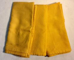"Gold square cloth napkins 18""x18"""