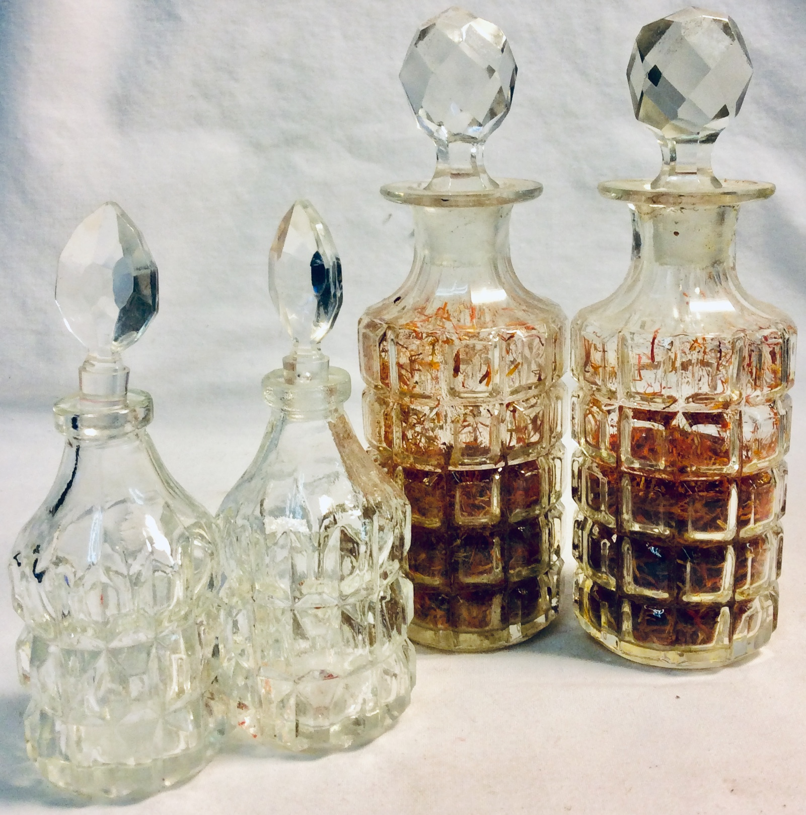 Small and medium size perfume glass bottles