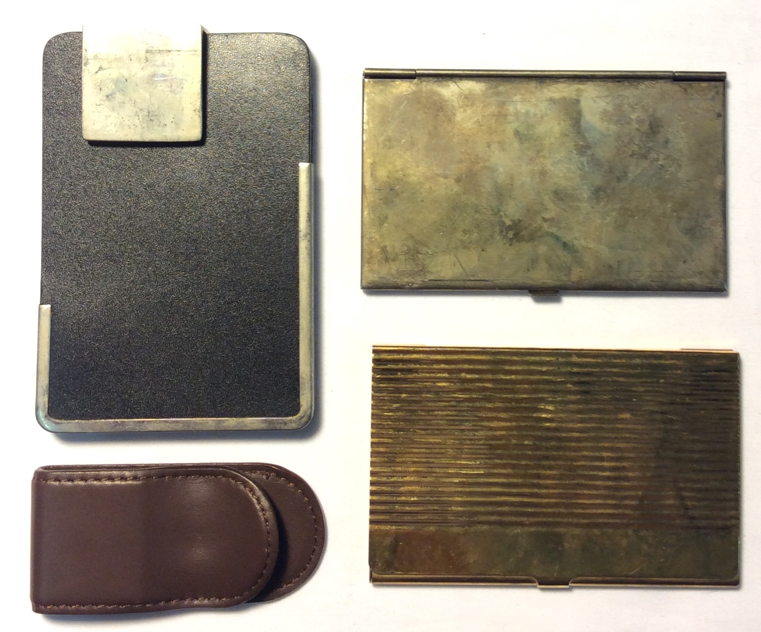 Assorted money clips; x2 metal