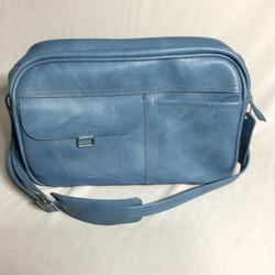 Blue retro travel bag