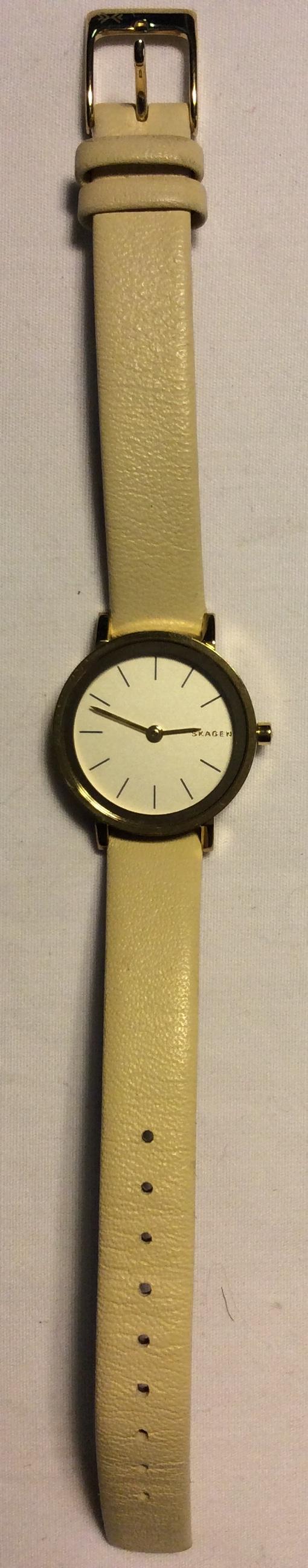Skagen watch - round white face