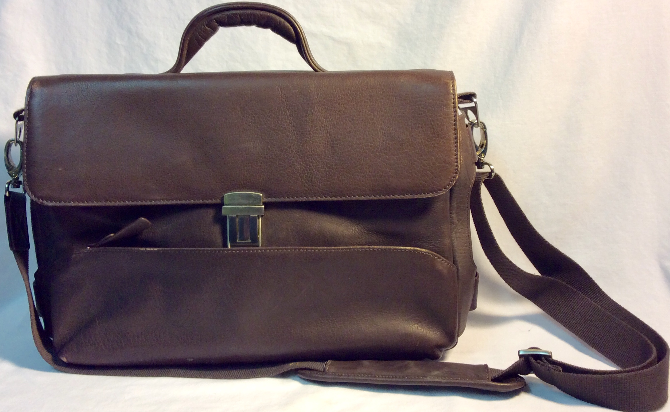 Danier Dark brown leather with silver clasp