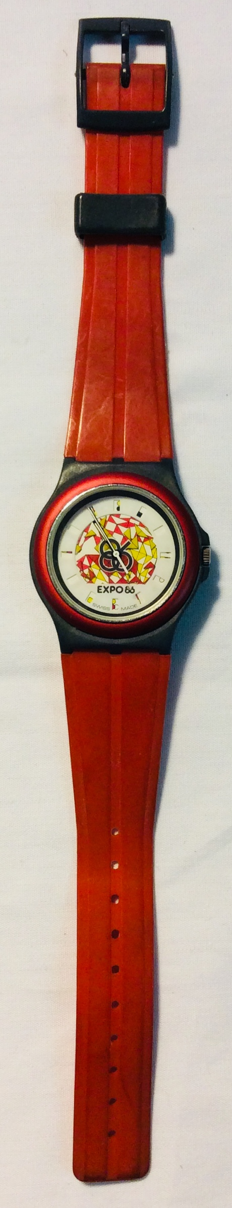 Expo 86 face, red & grey casing