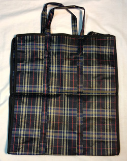 """16""""x18"""" Black, blue, and red plaid"""