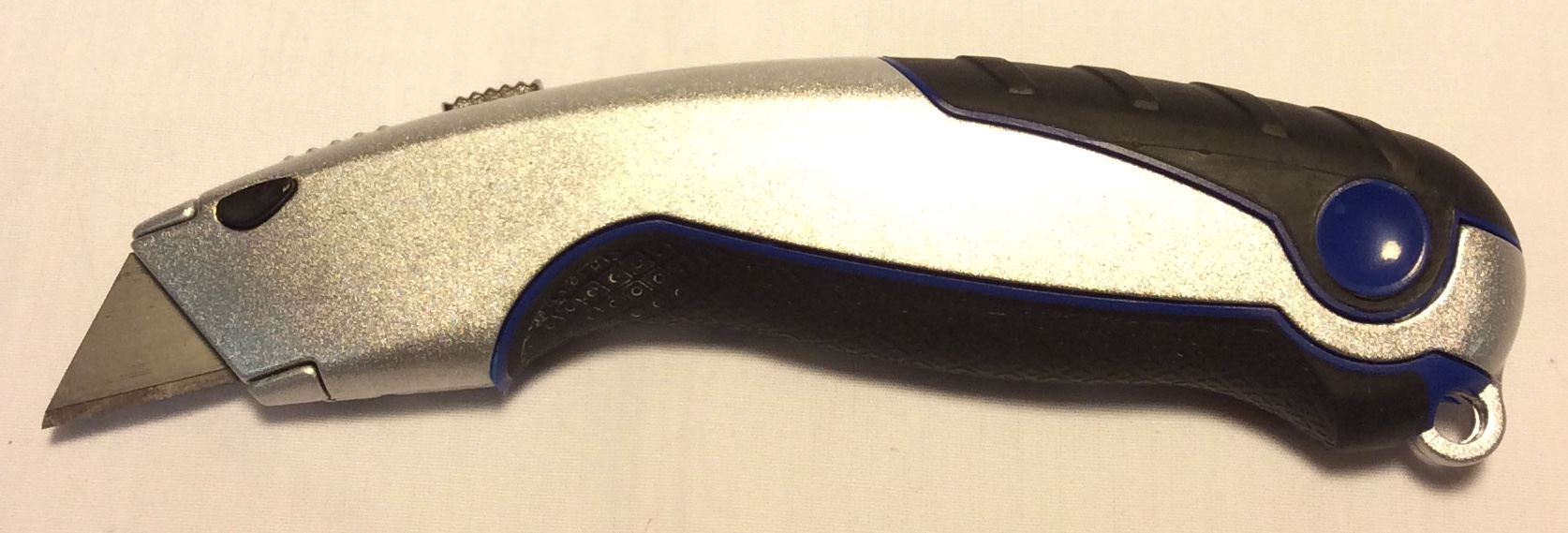 Silver metal box cutter