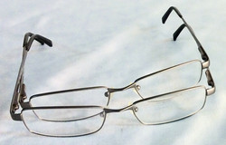 Silver eyeglasses