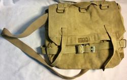 Military canvas beige WWI shoulder bag