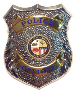 Silver Shield Police Hat Badges