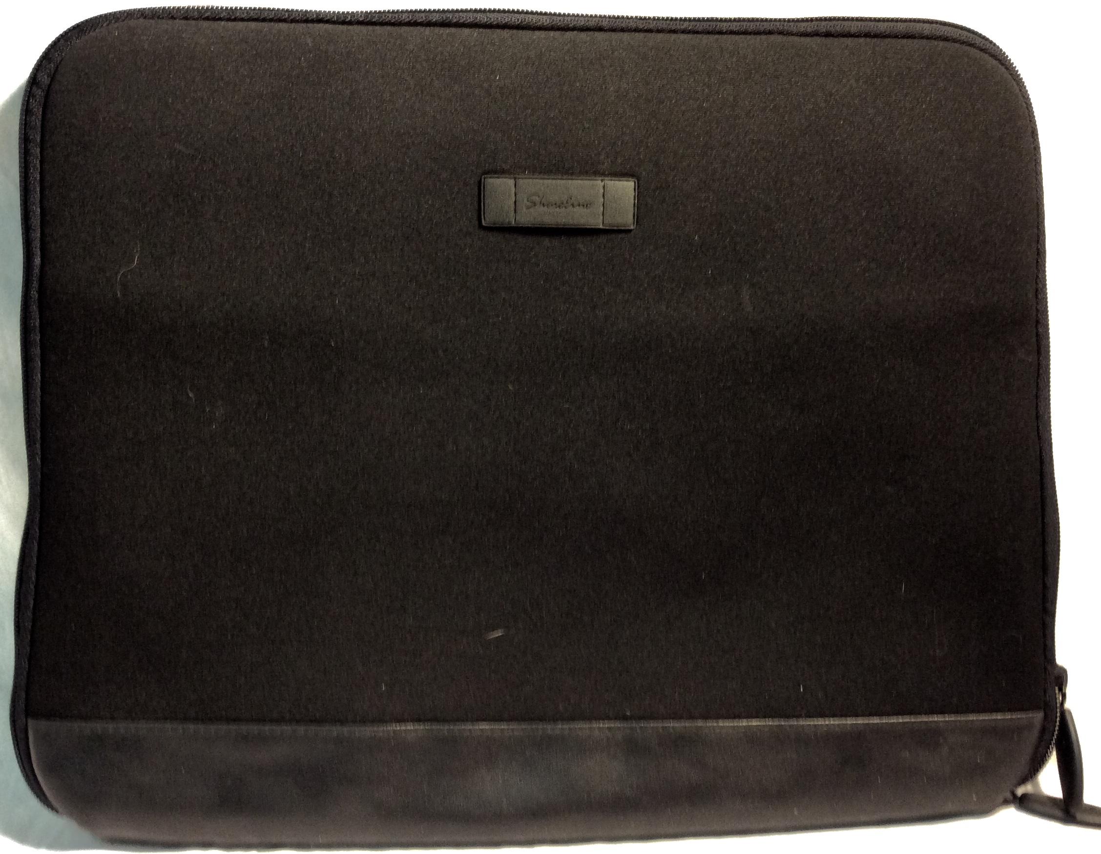 Shoreline Black neoprene laptop case/bag