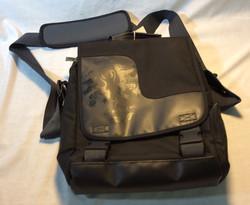 Black Patterned Shoulder Bag