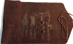 Brown leather tools case