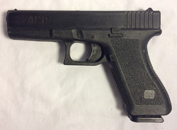 ASP (glock style) black hard rubber handgun