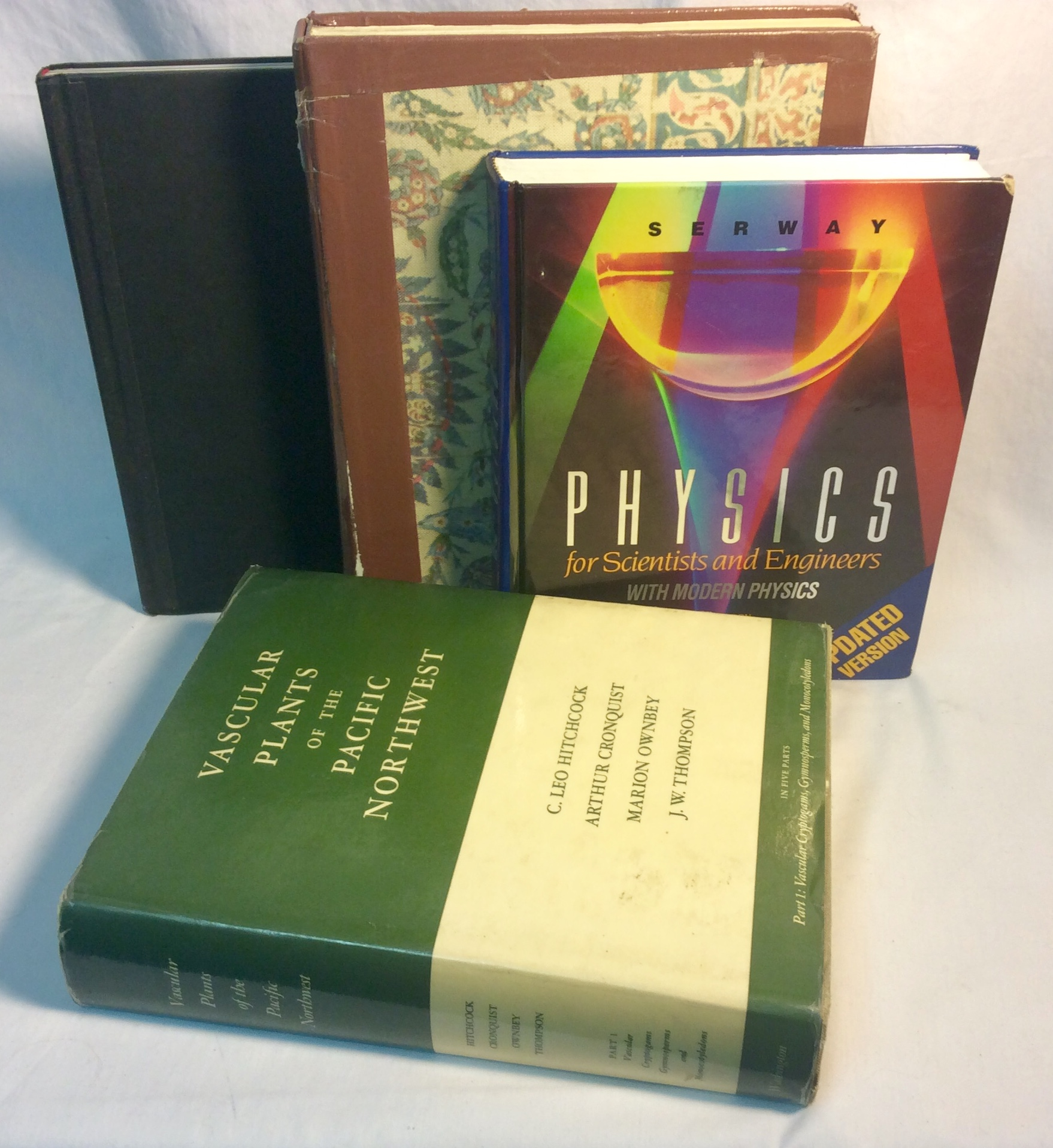 Assorted large hardcover books