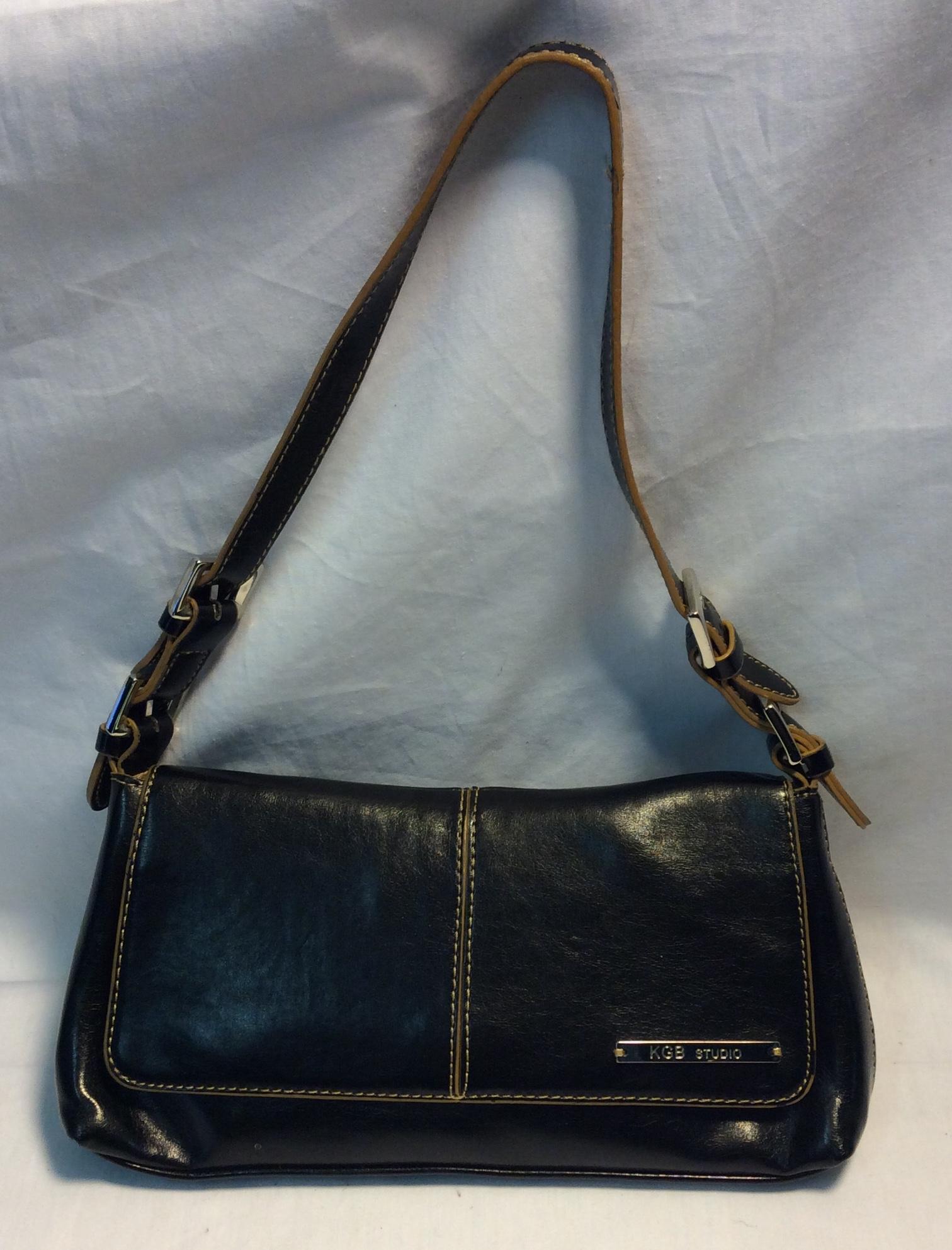 KGB Studio Small black leather purse