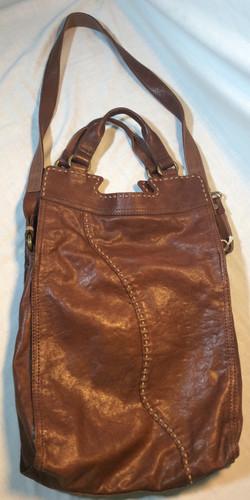 Dark Brown Leather Handbag