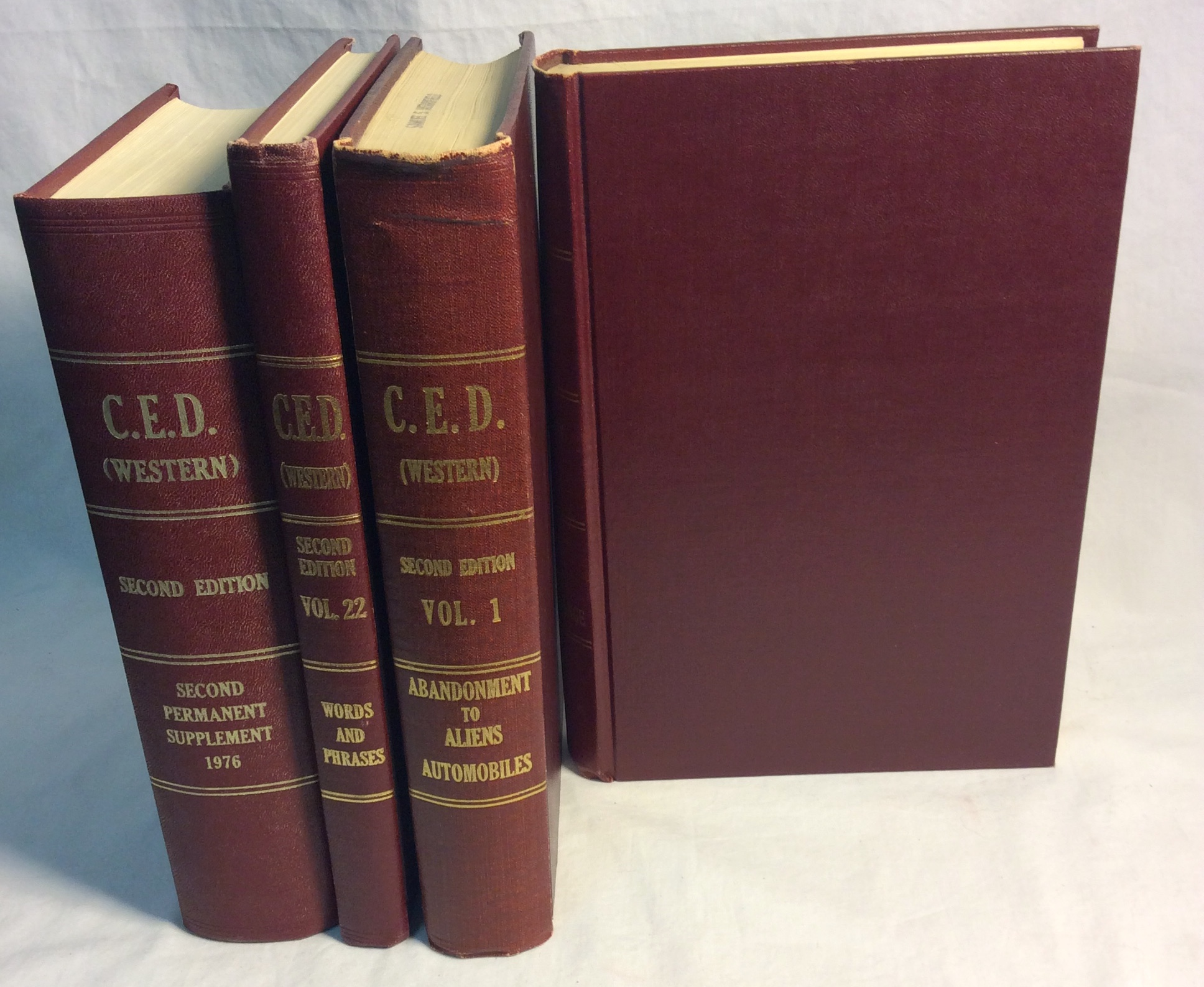 Set of red hardcover C.E.D. books