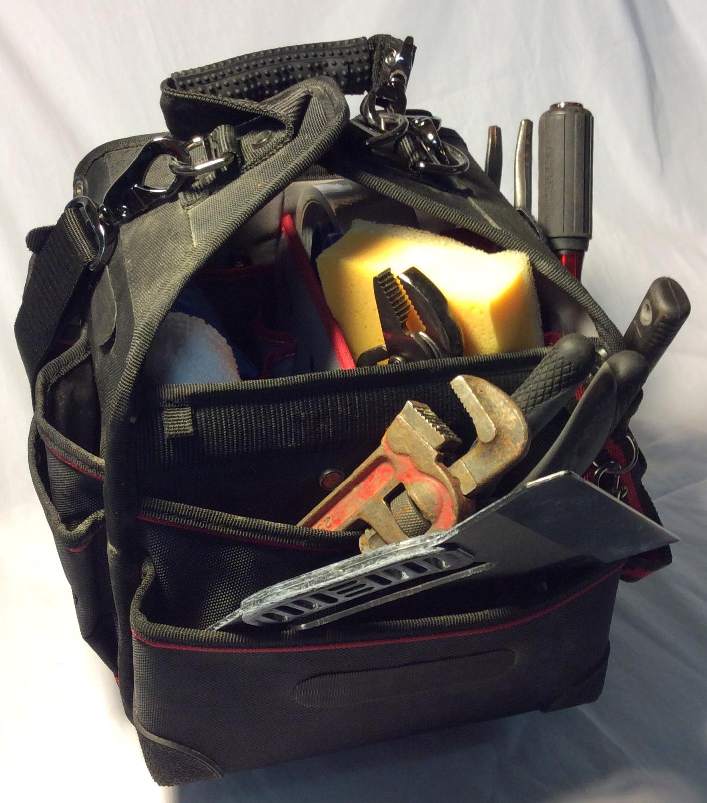 Black Fabric Tool Bag (Dressed)