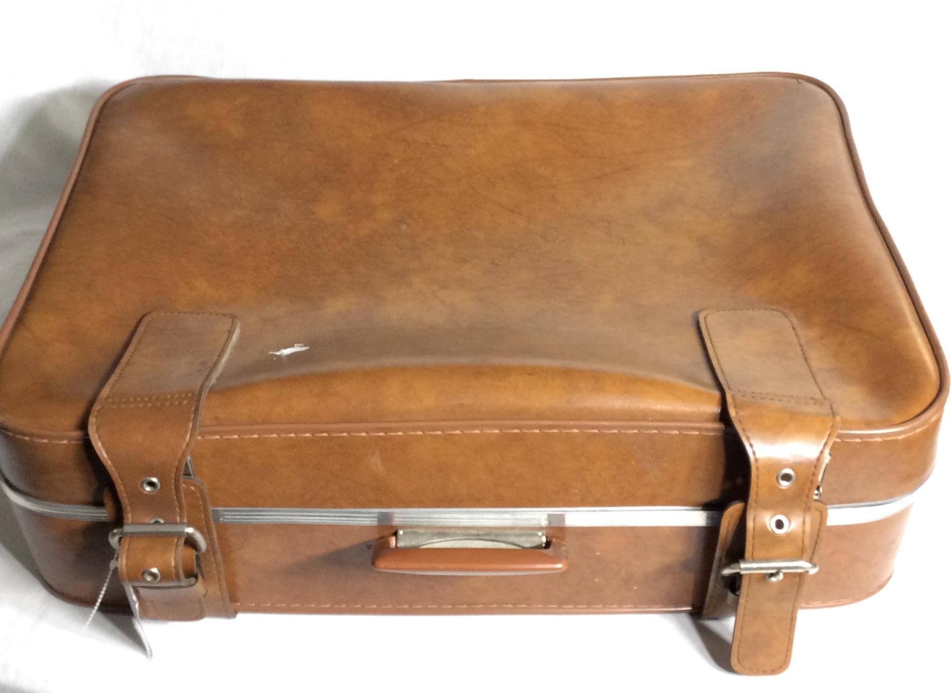 Light brown retro luggage
