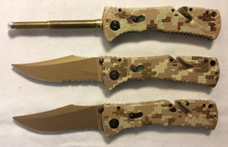 Foldable army knives. x2 real / x4 rubber / x2 VFX