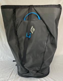 Grey waterproof Black Diamond backpack