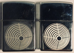 Mirror polished Zippo with chemical