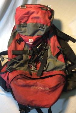 Older Red 45L Hiking Backpack