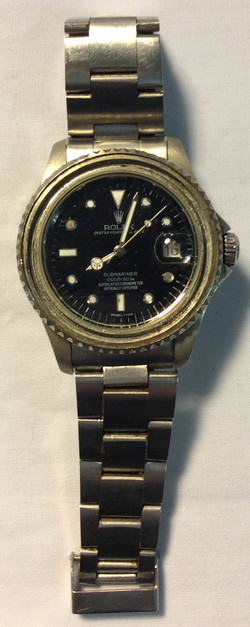 Rolex Steel frame with black face