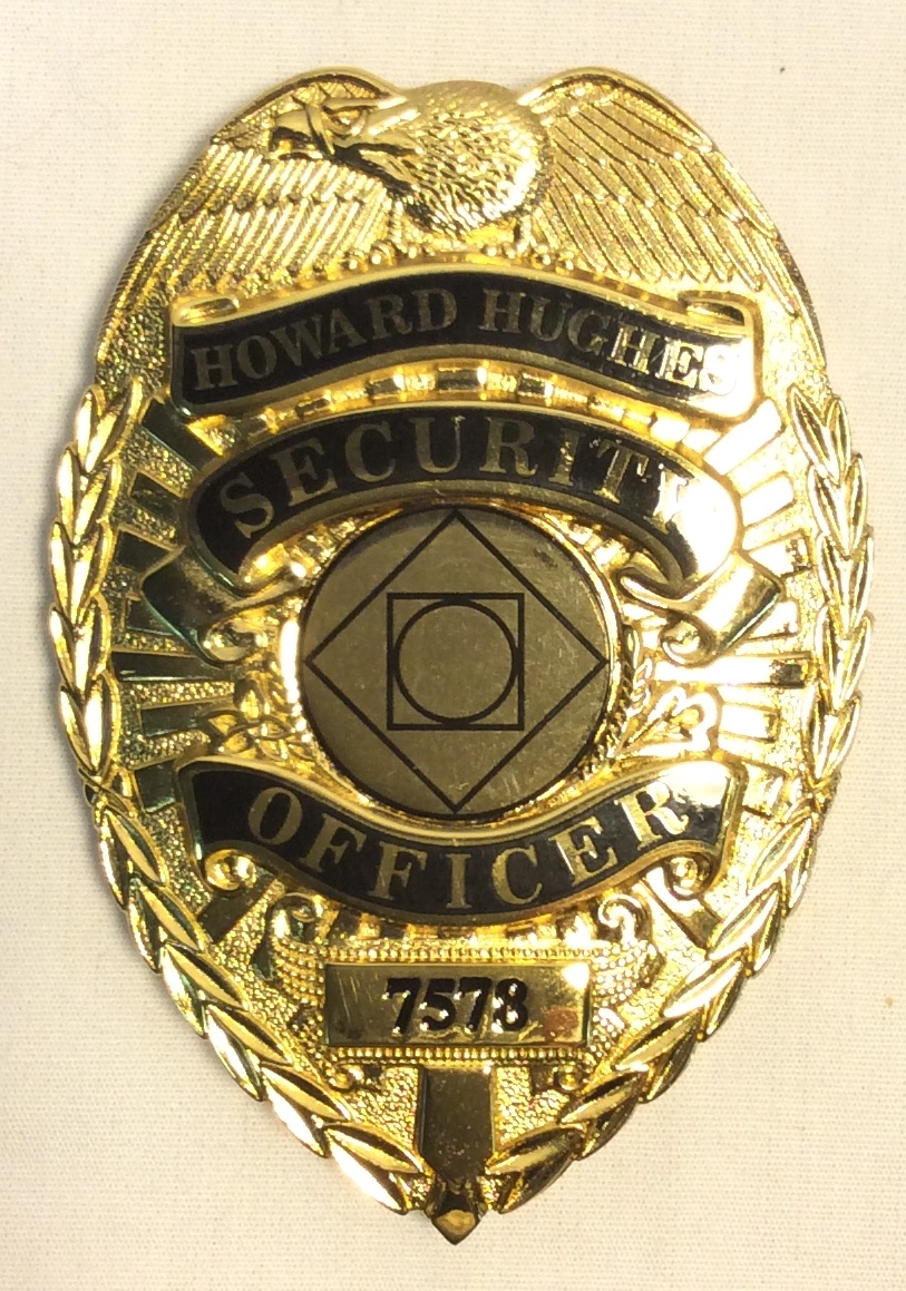 Gold Security Badge
