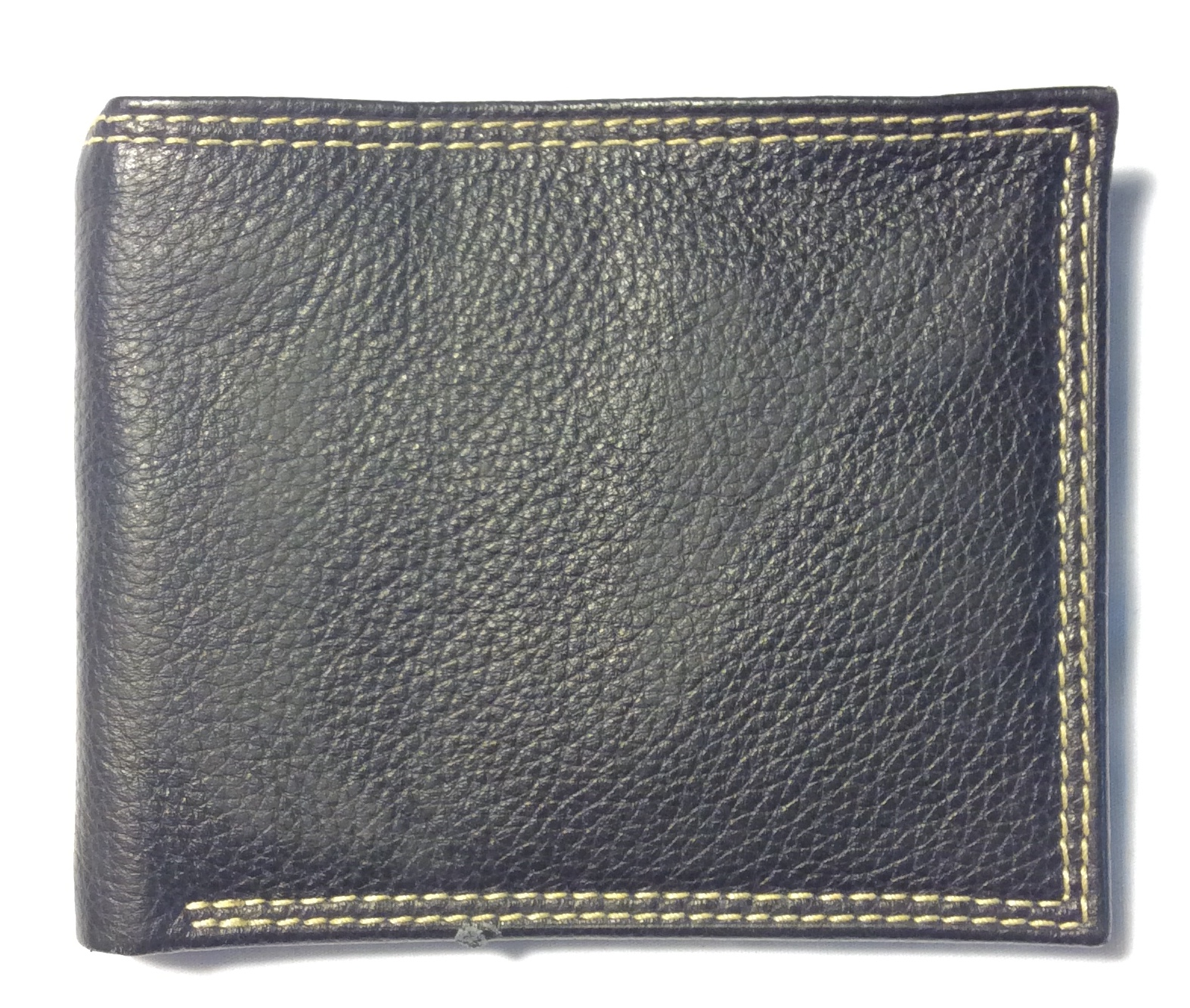 Buxton Black leather with two lines