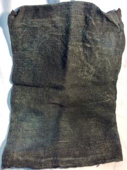 Aged dark burlap bag hostage hoods